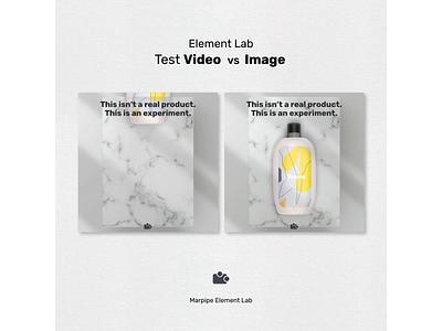 Element Lab - Test Video VS Image facebook ad advertising image video designs test creative product lab element marpipe branding flat design