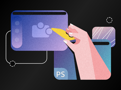 Exporting Templates From Photoshop to Marpipe template marpipe photoshop test technology tech gradient illustrator art 2d branding flat illustration design