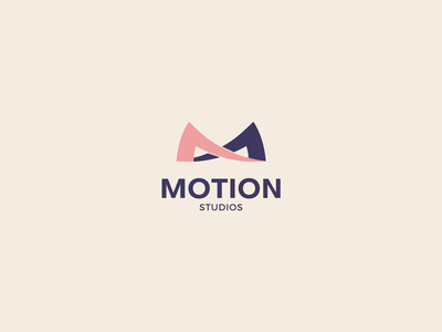 motion studios logodesign logo branding dancer music dance motion studios