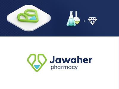 Jawaher pharmacy app branding design brand identity pharmacy branding graphic design logo