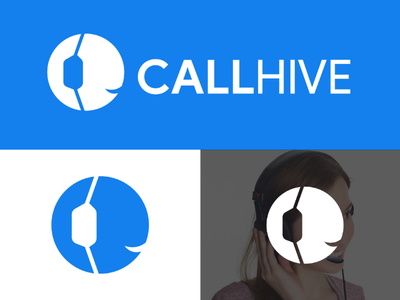CALLHIVE LOGO telephonelogo telephone calling call callcenter callcenterlogo logodesign logo