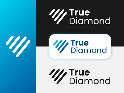 True Diamond Logo logo designer digital marketing logo digital marketing logo design logo