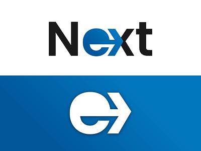 """Next"" LOGO designer logo typography next logo logo mark logo design logo"