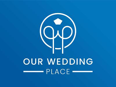 Our Wedding Place logo wedding logo weddings wedding icon logo designer branding design logo
