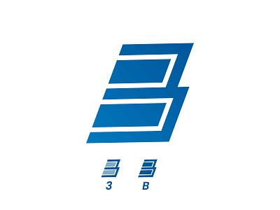B + 3 Logo wordmark lettermark branding logo designer logo design design logo