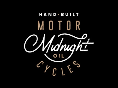 Midnight Oil Cycle Shop Shirt