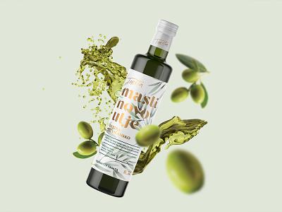 Olive oil label / Toreta hotfoil white minimal graphicdesign oliveoil croatia label illustration labeldesign olive