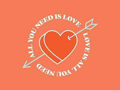 Social330 Posts typography vector illustration design arrow heart valentines day valentine sweetest love