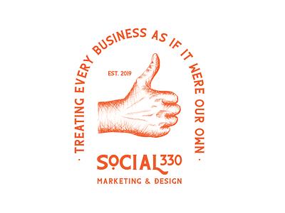 Social 330 ALT logo orange typography branding logo