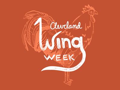 Cleveland Wing Week promotion design 2021 illustration wing week chicken wings wings chicken cleveland indians cleveland cavaliers cleveland browns cleveland