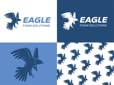 Eagle Foam Solutions blue color logo service logo foam logo spray foam blue logo eagle logo eagle logo