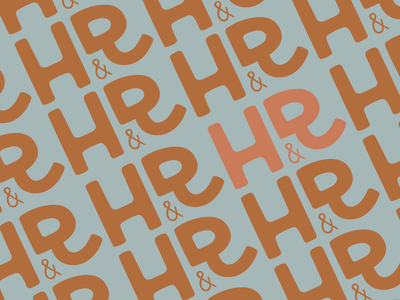 H&R Logo Pattern logo pattern procreate branding logo pattern
