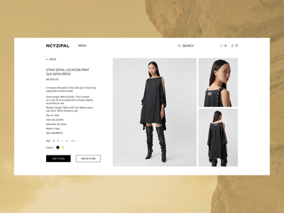 NCYZIPAL(CARD PRODUCT) online store girls online store minimal web ux ui design