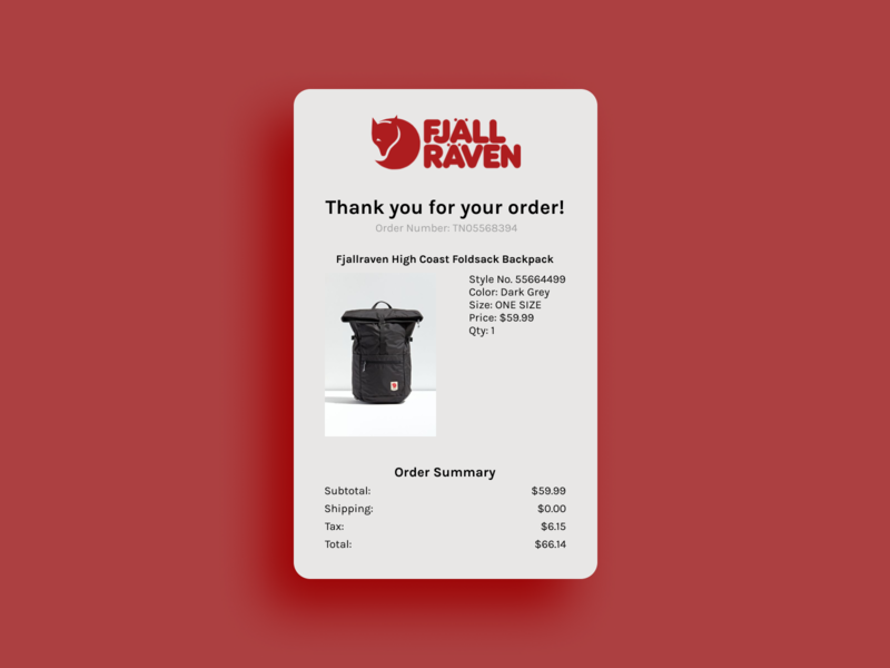 Daily UI Day 17 - Email Receipt email receipt daily ui 017 ui figma uidesign dailyui daily ui challenge daily ui
