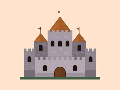 Day 8 of the 30 day flat design challenge! ai adobe illustrator castle flat design challenge flat design illustration design figma