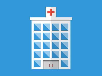 Day 12 of the 30 day flat design challenge! hospital building icon flat design figma illustration design
