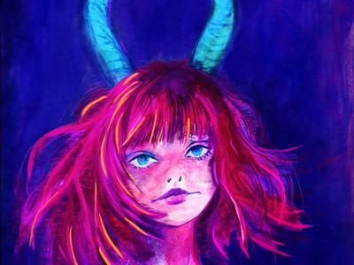 girl deer illustration