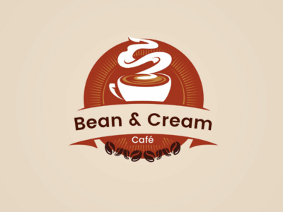 Cafe logo design option 3 logo ux ui design latest