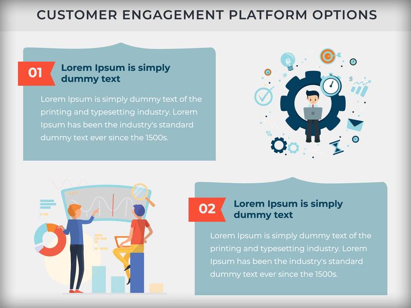 Customer Engagement Platform Infographic flatdesign information information design infographic