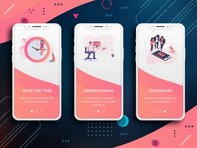Welcome Screens Mobile App Design