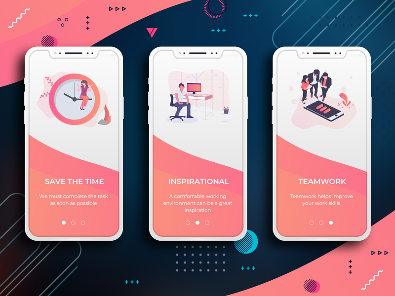 Welcome Screens Mobile App Design uxui design tranding user experience uidesign