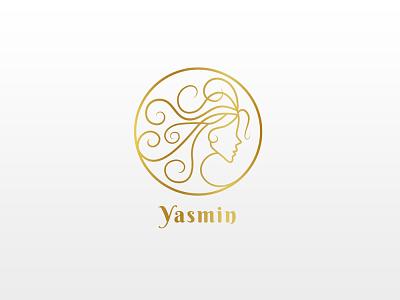 Yasmin Hair-therapy Logo Design vector logodesign branding logo design logo