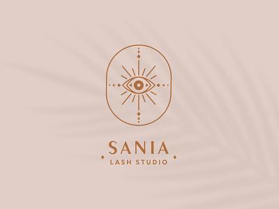 Sania Lash Studio Logo Design brand identity logodesign branding logo design logo