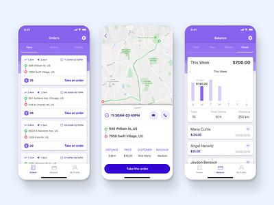 Kanga Mobile App interface mobile design mobile app isometry design delivery app delivery