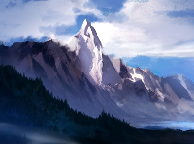 Isolation digital painting forest digital art digitalart atmosphere mountain isolation