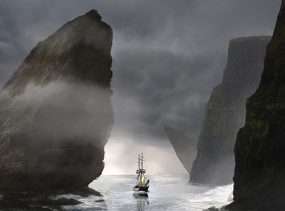 Uncharted environment ship photoshop atmosphere digital painting