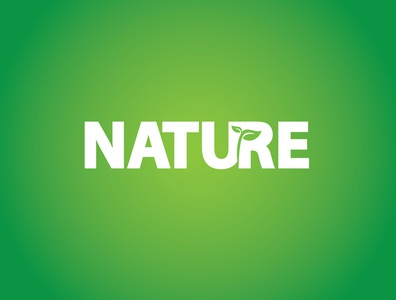 Nature negative space art logo