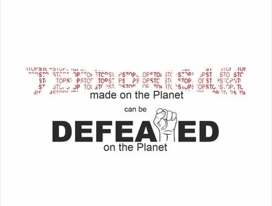 Stop Terrorism Typography