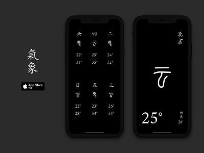 Air - A Minimal Weather App black  white minimal ios app design ios app weather app app design app