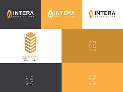 Intera Arquitetura illustrator design logomarca logomark logodesigner logodesign brandmark branding brandidentity arquitecture indentity logotype logo branding design