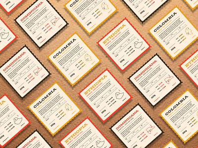 Quiroz - Specialty coffee labels latin america vintage typography type design etiqueta café coffee label packaging beige branding