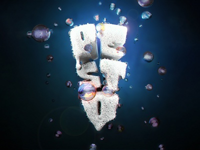Really Clean Logo - 3D Pesto branding logo 3d art 3d lettering lettering 3d model redshift c4d cinema4d 3d