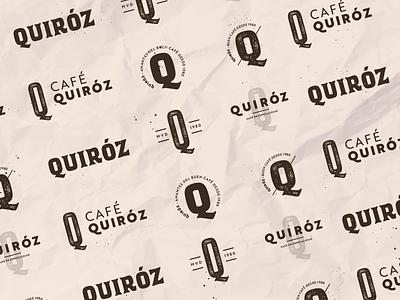Quiroz - Logotype of Latin-American Coffee branding coffee shop dynamic logo label latin coffee brand texture beige logotype logo vintage craft