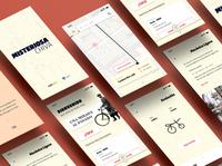 Bike Vintage App UI - Active Mobility