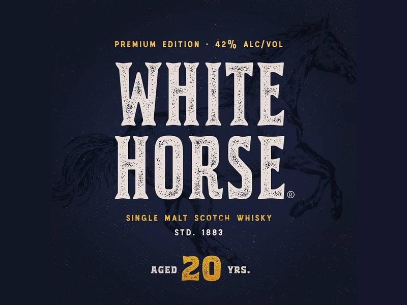 Premium Whiskey Redesign Branding procreate logo vintage packaging branding whisky western horses serif old style letters lettering redesign whiskey premium