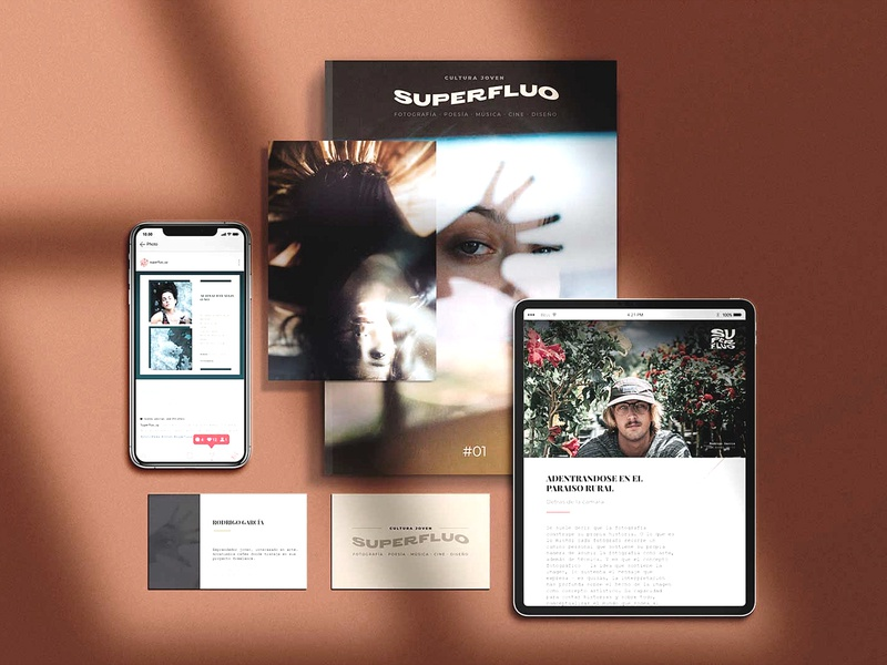 Superfluo Magazine - Emerging Art Brand editorial art disruptive young editorial layout ux editorial design illustration branding