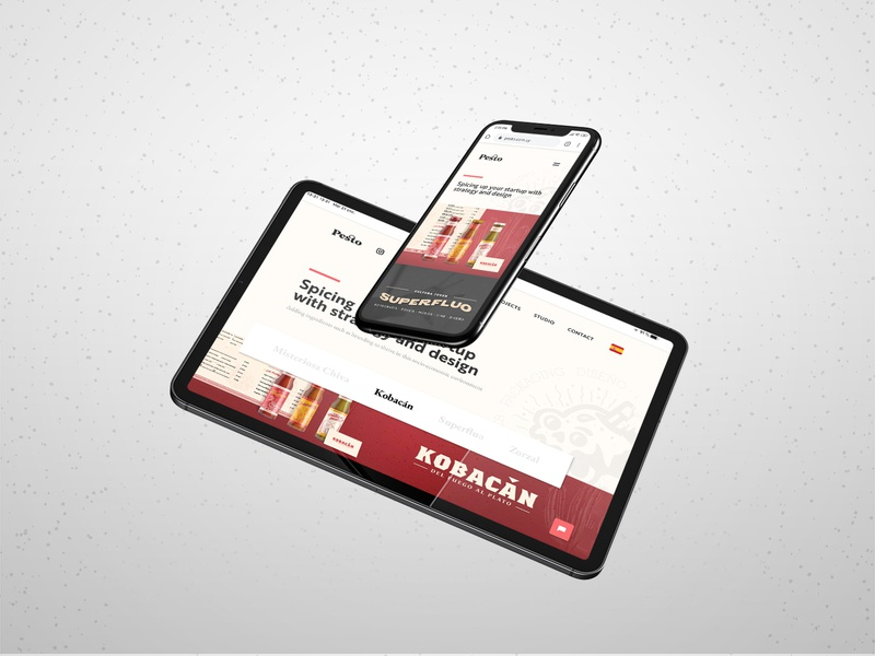 Pesto - Our Responsive Website Design and Dev tablet design branding webflow website concept website design responsive website website