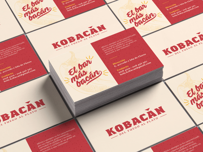 Kobacan - Illustrated Business Cards ceo management ideas businesscard brand business illustrations illustration beige and red rustic artisanal business cards