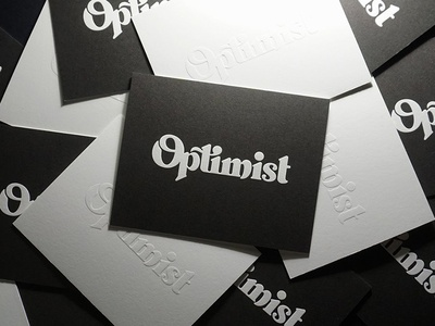 Optimist Letterpress Prints
