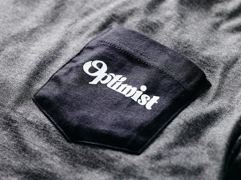 Optimist Pocket Tee tshirt tee shirt pocket photography apparel clothing lettering optimist