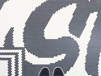 Hex Tile Lettering