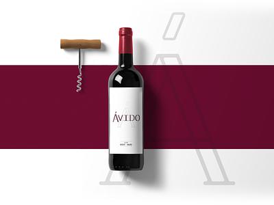 Ávido - Wine Label logo branding design wine label