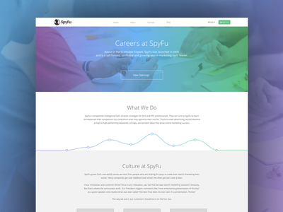 Careers Page redesign blue green clean website flat web landing page typography ui design careers