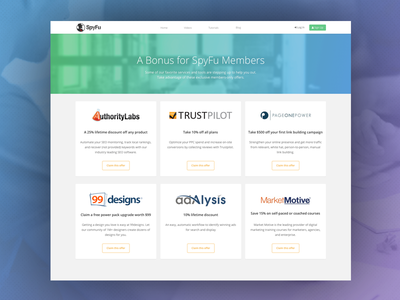 Members Perks redesign blue green clean website flat web landing page typography ui design