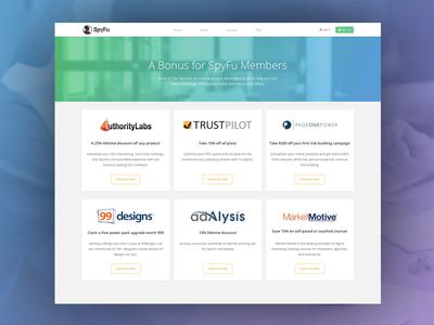 Members Perks redesign blue green clean website flat web landing page typography ui design