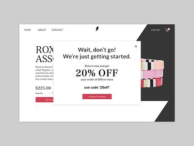Daily UI // Day 016 // Pop Up branding web ux ui typography minimal vector design